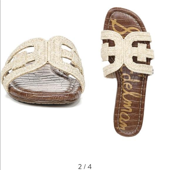 4e79a1734 SAM EDELMAN Beckie Slide Sandal Size 8 Natural. M 5cc30ea16a7fbab74bc357eb